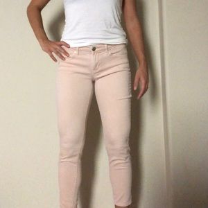 Beautiful blush skinny crop jeans 🌸